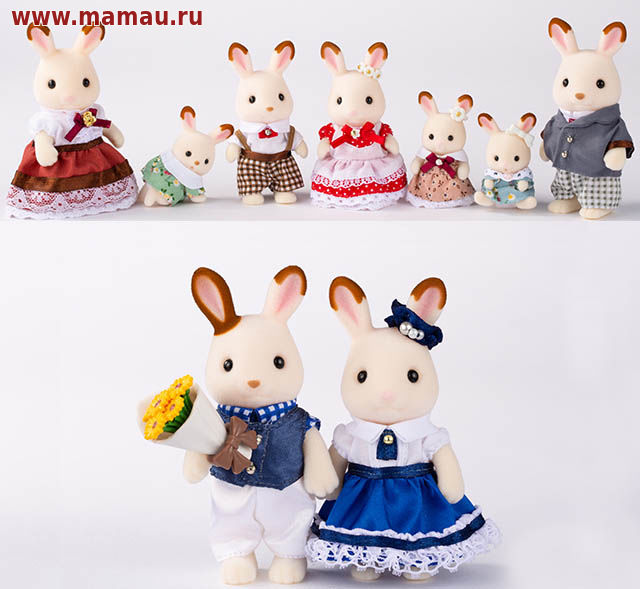 выставка sylvanian families семья шоколадных кроликов